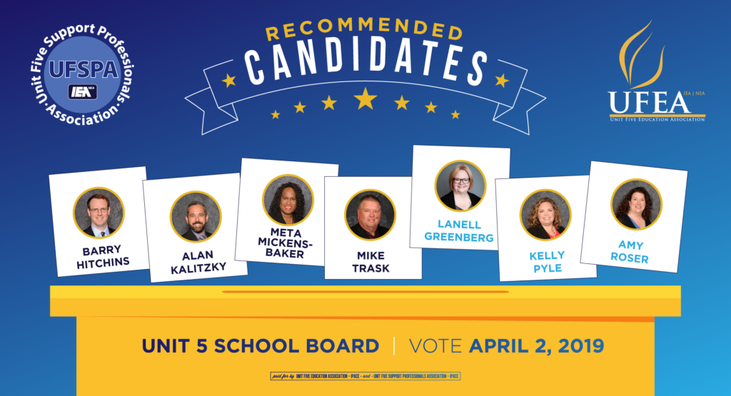 Recommended Candidates in the April 2, 2019 School Board Election